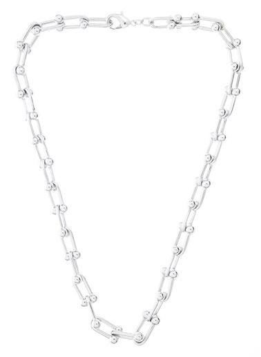 Monamoda Troklu Geçmeli Kolye Gümüş